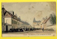 cpa 78 - HOUDAN (Yvelines) Rue d'EPERNON, Le Jour du MARCHÉ à la VOLAILLE Animés