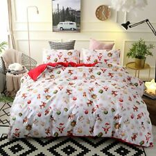 Christmas Santa Duvet Quilt Cover Set Christmas Bedding Set Comforter Cover Set
