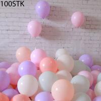 100x Luftballons pastell Ø 25 cm gemischte Pastellfarben Mix Ballon bunt