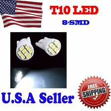 10 X Cool White T10 Wedge 8smd LED Car Side Marker/License Plate Light Lamp Bulb