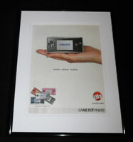 Game Boy Micro 2005 Circuit City Framed 11x14 ORIGINAL Advertisement