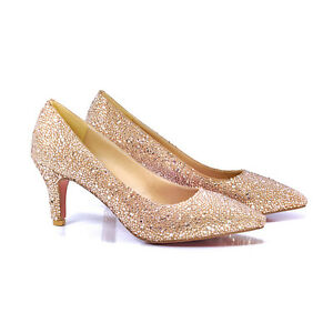 HI-GLAM POINTED HEEL in Champagne