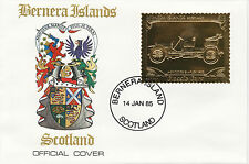 GB Locals - Bernera (2251) - 1985 Gold Cars Mercedes on First Day Cover