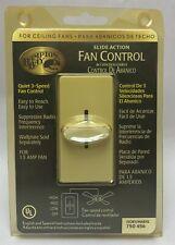 Hampton Bay Fan Control Ceiling 750-457 Ivory 3 Speed Slide Action Fan Control