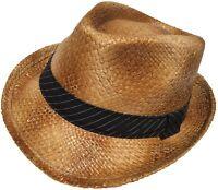 Capstar Burnt Straw Fedora Stingy Brim Trilby Beach Hat