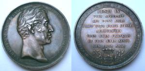 ARGENT médaille Charles X Roi Visite Mulhouse 1828 Alsace Haut Rhin France Louis
