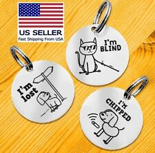 Custom Engraved Dog Tags Funny Pet Id Tag Double Sided Cat Tag Silent Tags