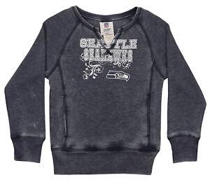 Outerstuff NFL Youth Girls Burnout Long Sleeve Fleece, Seattle Seahawks