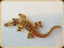 3D GOLD Crocodile Metal Car Sticker,Auto,Motorcycle,Decals,SELF ADHESIVE,Gems