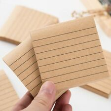 1PC Kraft Paper Line Planner Stationary Diary Scrapbooking Sticky Note Memo Pad