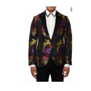 Versace Mens Baroque Jacquard Jacket Blazer in Multi IT 48 US 38 $3250 NWT