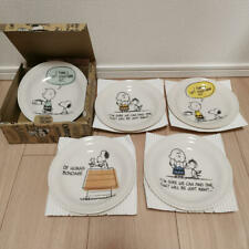 SNOOPY Town Shop Happy 70 Years from Japan Art Plate Peanuts Friends LTD RARE