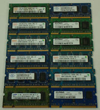 1 GB PC2-6400 Working - SODIMM - DDR2 Pulls (Lot of 12) Mixed Brand Memory RAM