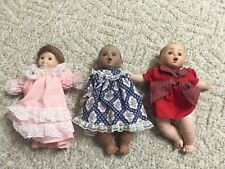 Cindy Porcelain Doll Lot 1995 - 3 Dolls