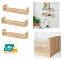 IKEA Wooden Spice Jar Rack Stand Kitchen Storage Wall Shelf Shelves Organiser