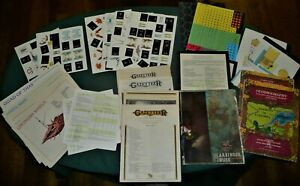 Vintage Dungeons and Dragons TSR Lot Games maps Books