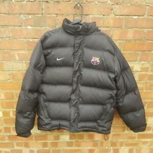 Official genuine Nike Barcelona black puffer Jacket padded Coat SIZE Mens Large