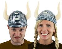 VIKING HELMET FANCY DRESS NORDIC WARRIOR COSTUME ACCESSORY UNISEX WOMENS MENS