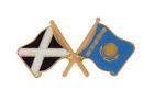 Kazakhstan Flag & Scotland Flag Friendship Courtesy Pin Badge
