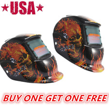 2pcs Skull Solar Auto Darkening Mig Mma Electric Welding Helmet Mask Welder Tig