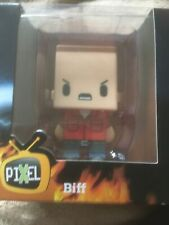 Back to future. Biff Adult medium T-shirt with mini figure brand-new and sealed.