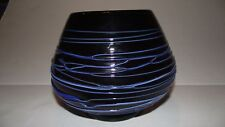 Azerbaijan Handcrafted Glassware purple and blue vase/bowl