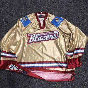 Oklahoma City OKC BLAZERS Hockey Jersey - CHL SP - Made in CA - Large