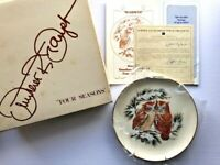 Vintage 1978 Gunther Granget Four Seasons Limited Edition Plate Warmth Winter
