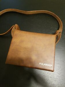 Vintage Polaroid Faux Brown Leather Instant Camera Bag Photographer Pictures