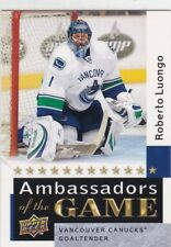 ROBERTO LUONGO 2009-10 UPPER DECK 2 AMBASSADORS OF THE GAME SP #AG60 CANUCKS