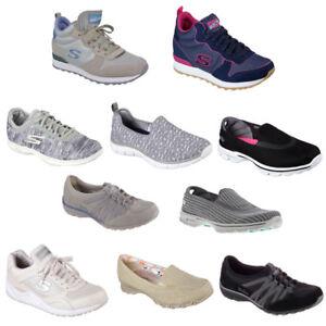 SKECHERS Damen Sneakers Turnschuhe Slipper Loafer Keilsneakers viele Farben NEU