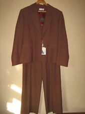 (NEW ) WOMEN'S DESIGNER ( WISH ) 2 X PIECE BROWN JACKET & TROUSERS SUIT SIZE 16