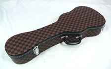 FREE SHIPPING!Concert ukulele Elegant Square pattern color Hard case