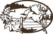 Deer Buck Hunter Hunting Field Fence Window Laptop Vinyl Decal Sticker