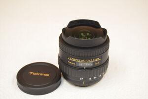 Tokina AT-X 107 NH 10-17mm f/3.5-4.5 DX AF Lens For Nikon - Free US Shipping