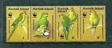 Norfolk 421, MNH, 1987, Birds WWF Norfolk Parakeet -Cyanoramphus cookii x19033