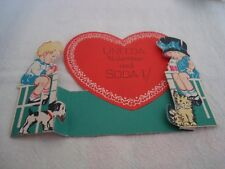 Vintage Valentine Card Uneeda Valentine and Soda