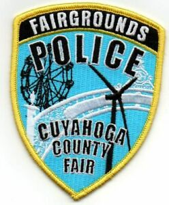 OHIO OH CUYAHOGA COUNTY FAIR FAIRGROUNDS POLICE NEW SHOULDER PATCH SHERIFF