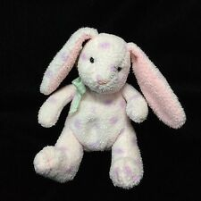 "Russ Berrie Jellybean Pink Purple Polka Dot Bunny Rabbit Plush Soft Toy 5"""