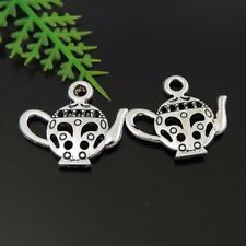 39444 Vintage Silver Alloy Nice Teapot Pendant Findings Charms 17*15*2mm 80pcs