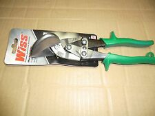 WISS M7R GREEN OFFSET RIGHT CUT TIN SNIPS