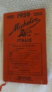 ANCIEN GUIDE MICHELIN ROUGE ITALIE 1959