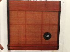 """Hensley Country Curtains 32"""" Bamboo Cordless Roman Shade Brown 481075 32 Br"""