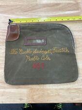 Early Pueblo Colorado, The Pueblo Savings And Trust Co. Bank Bag 466. No Key