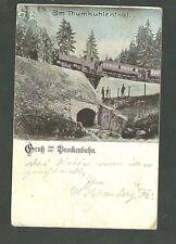 1899 Postly Used Postcard Gruss Aus Brockenbahn Im Thumkuhlenthal