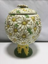Metlox Daisy Topiary Cookie Jar Marked MADE IN Poppytrail CALIF.