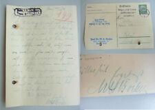 Soziologe Max Hildebert BOEHM (1891-1968): Eh. Postkarte JENA 1936 über RIEHL
