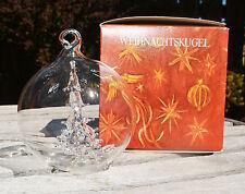 VINTAGE CRYSTAL CHRISTMAS ORNAMENT! BERLIN DESIGN WEIHNACHTSKUGEL 1979 XMAS TREE