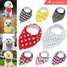 4pcs Cotton Dog Bandana Slide On Collar Neckerchief Scarf Puppy Pet Cat Gifts