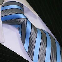 BINDER de LUXE KRAWATTE tie slips corbata cravatte Dassen Krawatten 129 Blau